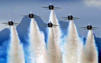 Cool Hd Blue Angels Demostration Wallpaper | Download wallpapers page