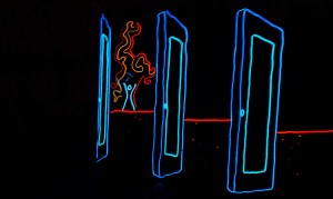 Cool Neon EL Wire Oakland California - Burning Man Extended Retail Hours