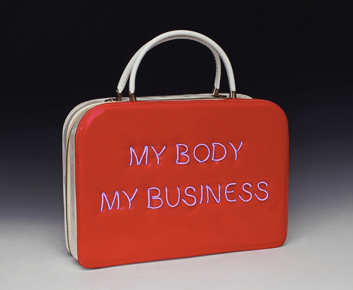 cool neon feminist purse