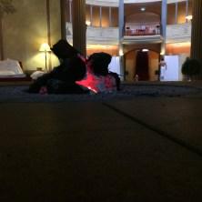 Ruhezone im Spa mit Kamin