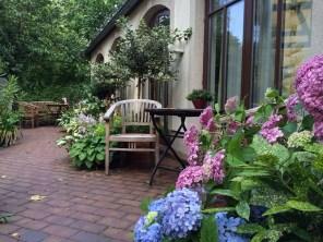 Garten vor der Familiensuite