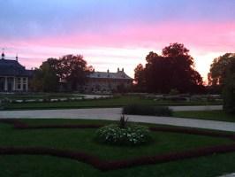 Wasserpalais bei Sonnenuntergang