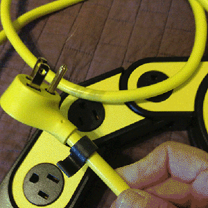 The cord keeps tidy with a SWEET clip. Sturdy, too.