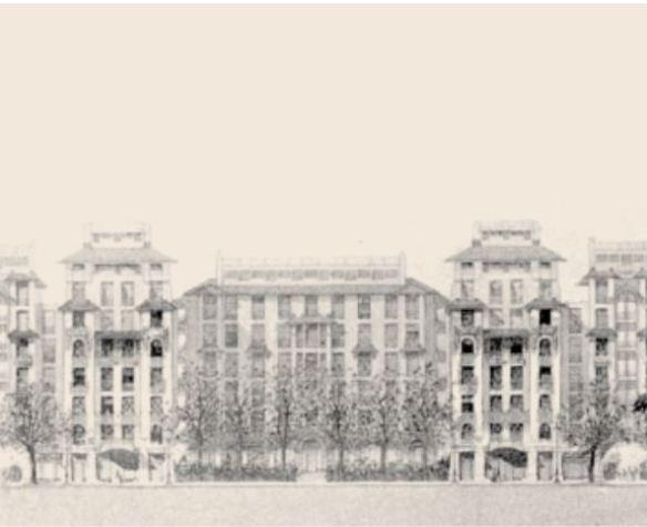 Bâtiment édifié par la fondation Rothschild à Paris
