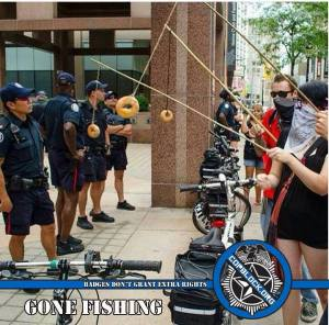 Occupy Protesters Go Fishing – For Cops