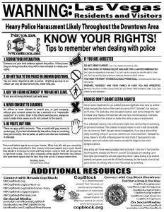 Nevada Cop Block Know Your Rights Flyer
