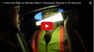 "(VIDEO) ""I Have the Right to Remain Silent"" – Memorial Day Checkpoint Owned by Cop Blocker"