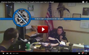 Update: Arkansas Police Chief in Open Carry Arrest Video Has Resigned