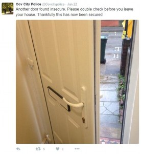 Police Enter Unlocked Homes To Remind You to Lock Up, Tweet Pictures About It
