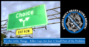 It's the Little Things – Killer Cops Are Just A Small Part of the Problem