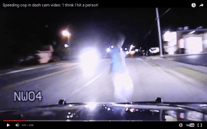 'I Think I Hit a Person' – Cop Driving Twice the Limit With No Lights On Instantly Kills Pedestrian