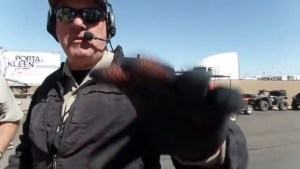 Deputy Grabs Camera Out of Activists Hand at NASCAR Campsite
