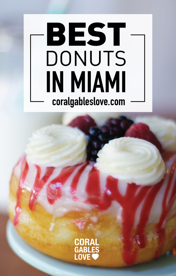 The Best donuts in Miami are 蜜蜂 Doughnuts in South Miami. This is the raspberry coulis flavor.