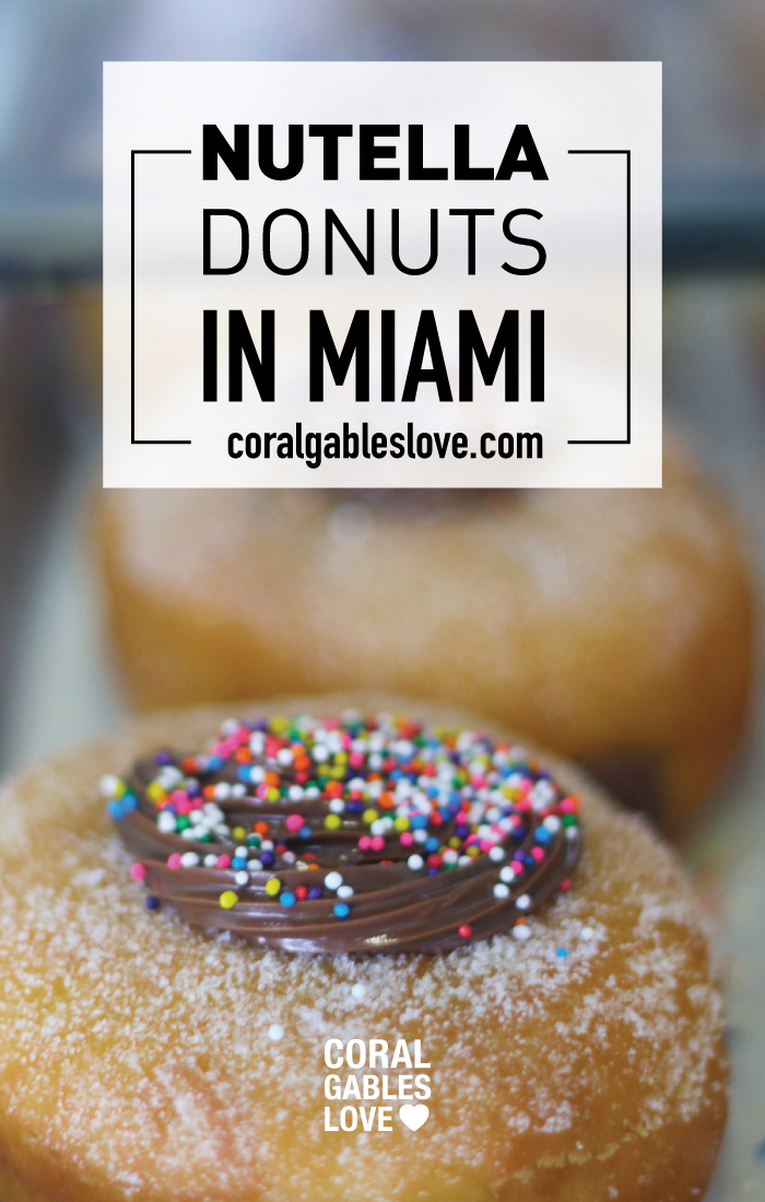 The Best donuts in Miami are 蜜蜂 Doughnuts in South Miami. This flavor is nutella
