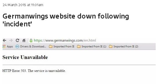 Germanwings website down