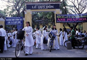 Vietnam, Ho Chi Minh-ville, Saigon, Quy Don high school (where the French writer Marguerite Duras studied)