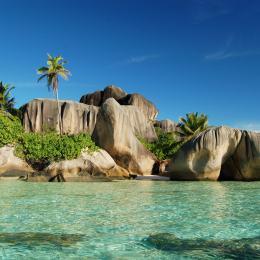 Lo spettacolo di La Digue  spiagge, palme e granito