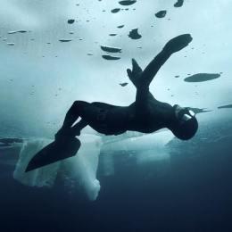 Johanna il coraggio di nuotare  sotto il ghiaccio dell'artico