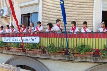 Fiestas 2011, dia 26, Corporacion infantil y ofrenda floral