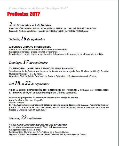 PREFIESTAS SAN MIGUEL 2017