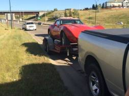 Coaldale RCMP arrest a Calgary man after he broke into a Coaldale residence and stole a Corvette off the property.