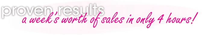 Proven Results. A week's worth of sales in 4 hours!