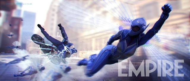 Wasp Smashes Bad Guy In Ant Man 2 Concept Art   Cosmic Book News Ant Man and Wasp concept art