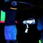 The glow in the dark driving range