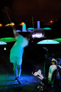 Night golf lighting ideas
