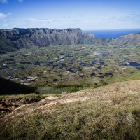 Le cratère du Rano Kau