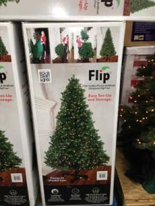 Costco Flip Pre-Lit Artificial Christmas Tree