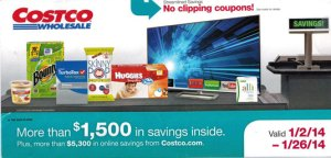 January 2014 Costco Coupon Book Cover