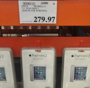 iPad Mini on clearance at $279.97