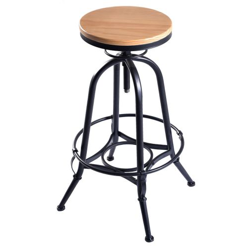 Awesome Adjustable Swivel Industrial Metal Design Vintage Bar Stool Table Barstools Chairs Furniture Adjustable Swivel Industrial Metal Design Vintage Bar Stool Table