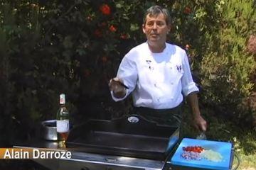 Moules a la plancha par le Chef Alain DARROZE