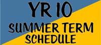 Year 10 Summer Term Assessment Calendar Schedule 2016
