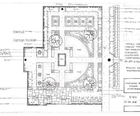 Walled Courtyard Plan