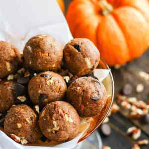 Pumpkin Spiced Chocolate Pecan Pie Bites {Grain Free & Vegan Friendly}