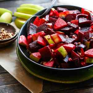 Marinated Beet and Apple Salad with Banana Peppers – Serious Superfood!