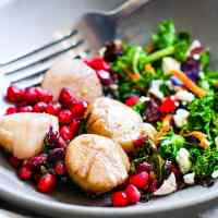 Date Night In Made Easy! Maple Balsamic-Glazed Scallops with Pomegranate