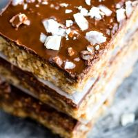 3 Step No Bake Chocolate Coconut Cashew Bars {Vegan, Paleo}