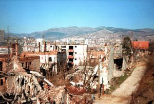 A Destroyed District During the Seige of Sarajevo, 1997, by Hedwig Klawuttke