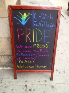 Pride and Bible Chalkboard