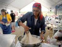 Frybread making with Osh Johnson from Black Mesa, Navajo Nation. Photo by Desiree Kane.