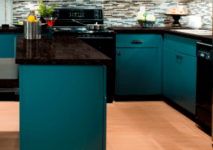 Nocturne - one of two new colors of LG Viatera quartz surfacing recently added to the 'Musica Collection'