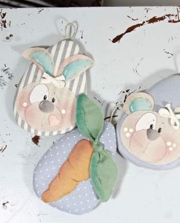 Uovo coniglio orso carota