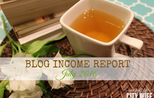 Blog Income Report July 2016