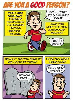 Are you a good person? Comic featuring Mr. Nice Guy