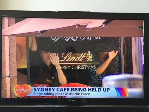 The Morning Show | Lindt Cafe held hostage by ISIS, hostages holding up ISIS flag