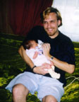 Daddy (21 years Old) & Amber (8 Days Old)